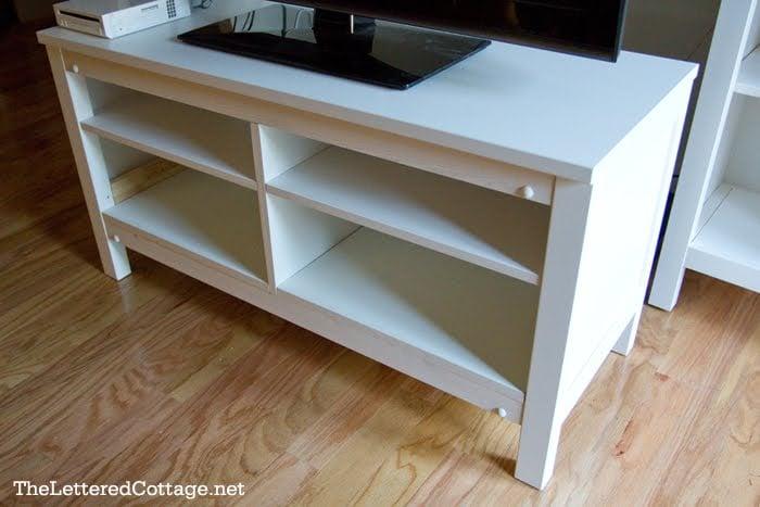Hemnes TV Stand Adding Shelves IKEA Hackers IKEA Hackers