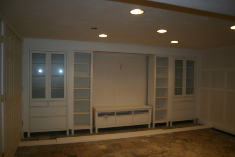 hemnes pieces to built in media wall