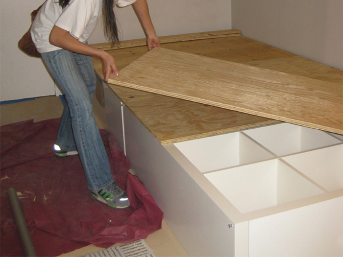 How to Make a Storage Bed Using an Ikea Expedit Bookcase - IKEA ...