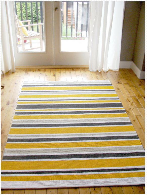 Ikea Yellow And White Striped Fabric ~ ERSLEV rug gets a sunny disposition  IKEA Hackers  IKEA Hackers