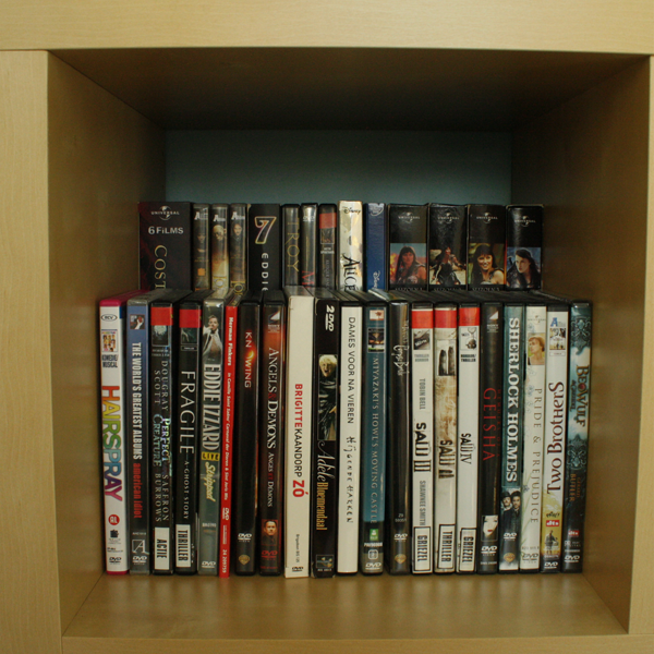 Minimalistic DVD rack in an Expedit - IKEA Hackers - IKEA Hackers