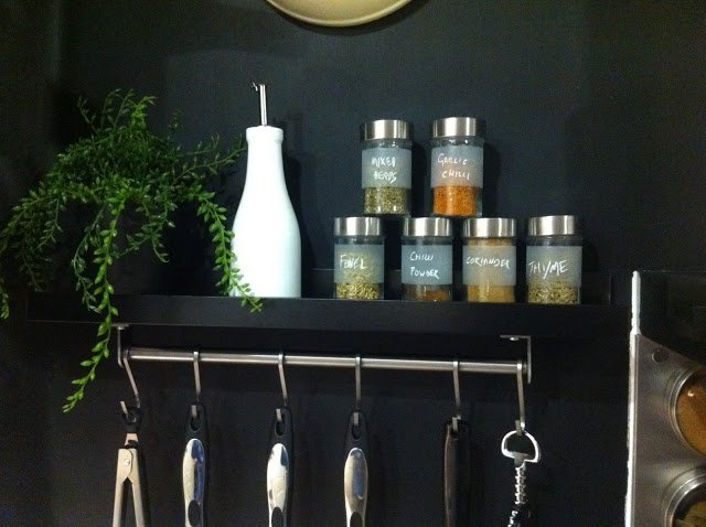 RIBBA spice rack and kitchen rail