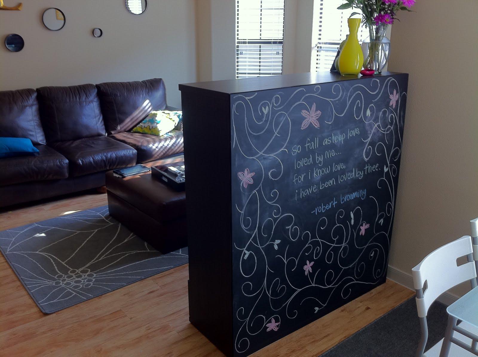 Ikea Ideas To Divide A Room ~ Besta Boas Chalkboard Room Divider  IKEA Hackers  IKEA Hackers