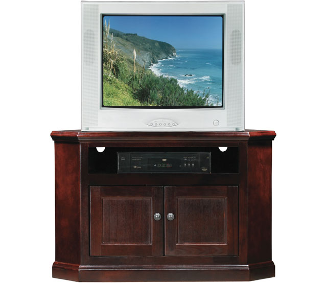 Hacker Help Corner Flat Screen TV stand with storage