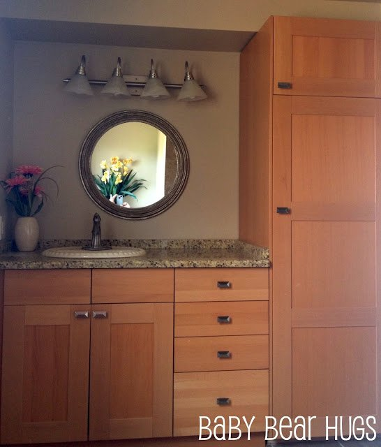 I Convinced My Mom To Go Ikea And She Loved The Cabinets That They Had There So We Designed Entire Vanity On A Budget