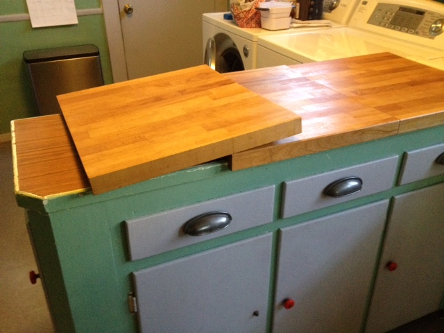 Countertop Lip : ... counter top and the boards can warp a bit depending on the weather