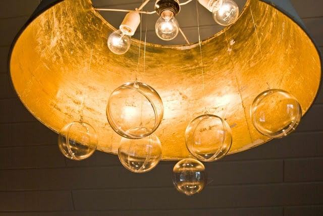 Bubble chandelier from IKEA JARA lampshade