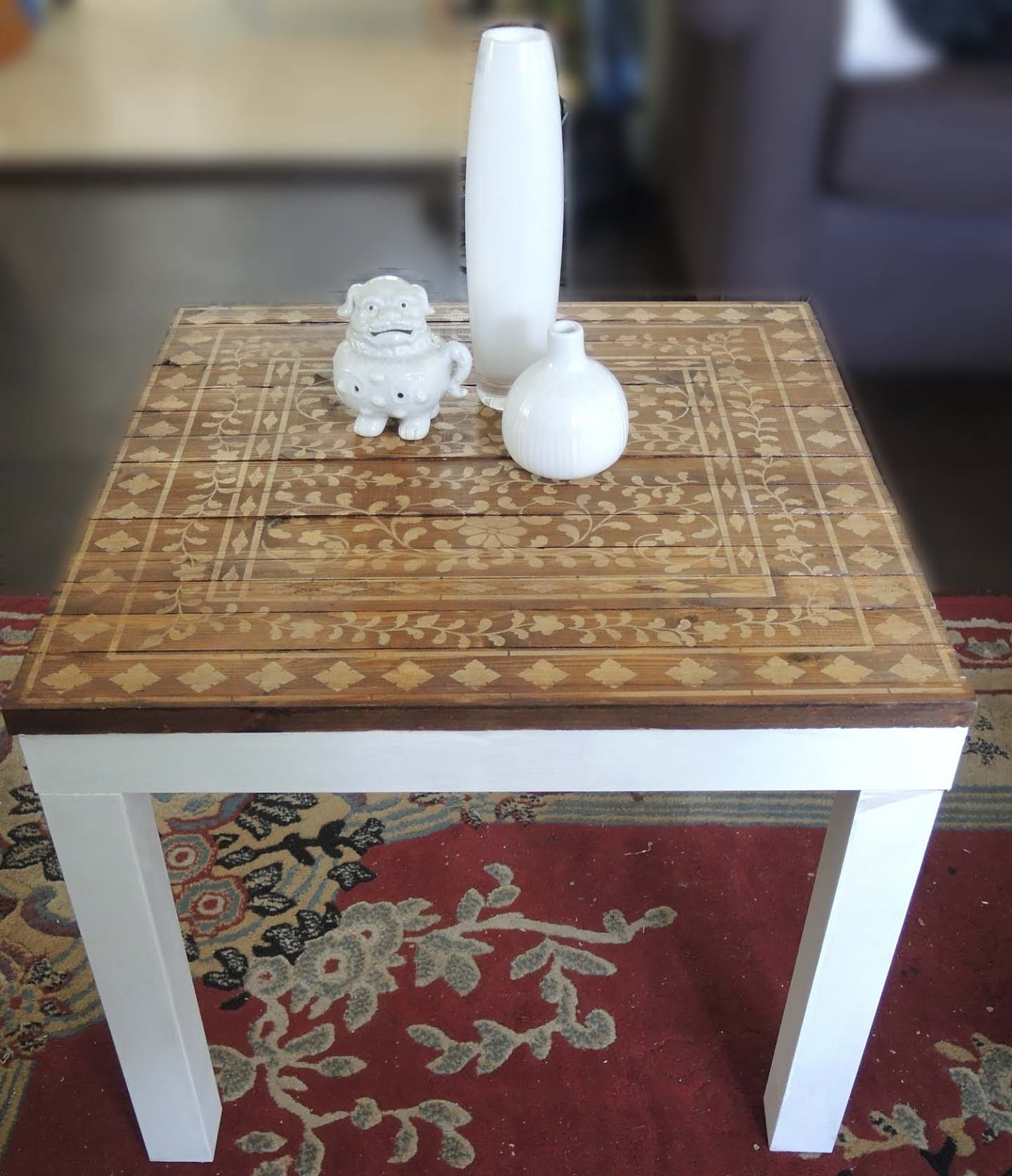 From a Lack table to a sweet little stenciled one IKEA Hackers