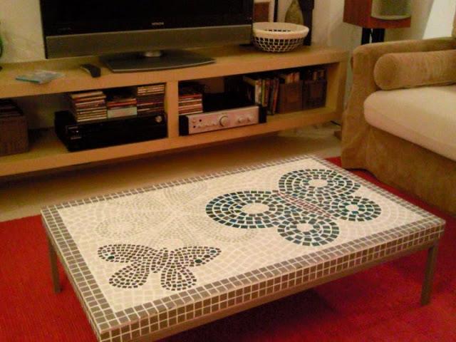 DIY klubbo mosaic table