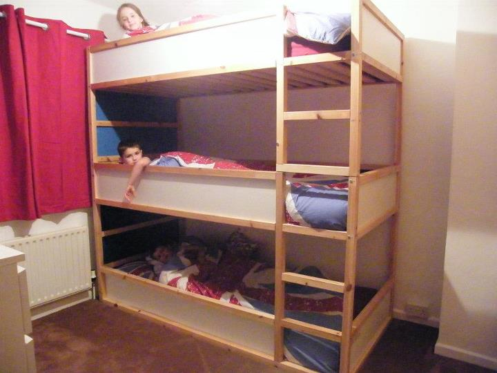 Space Saving Kids Triple Decker Beds Ikea Hackers