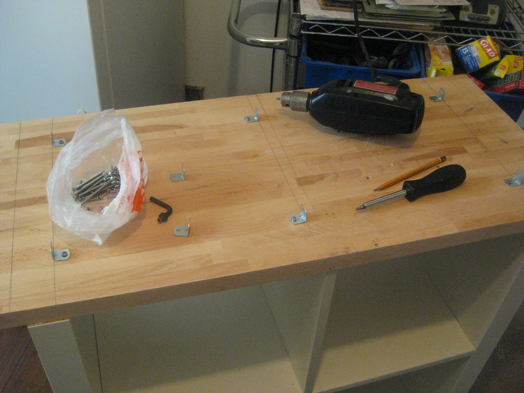 Kitchen Island Hack expedit rolling kitchen island - ikea hackers - ikea hackers
