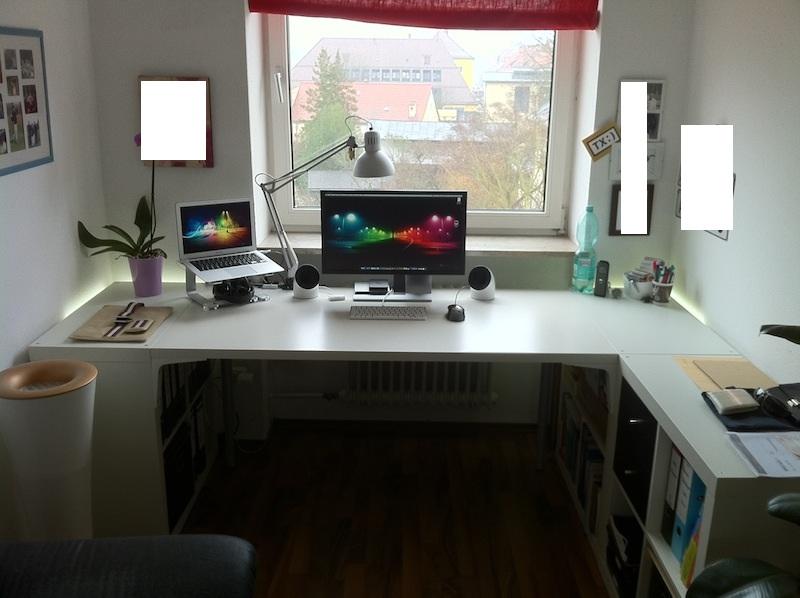 Ikea hemnes office hack: built in bookshelves and desk using ikea