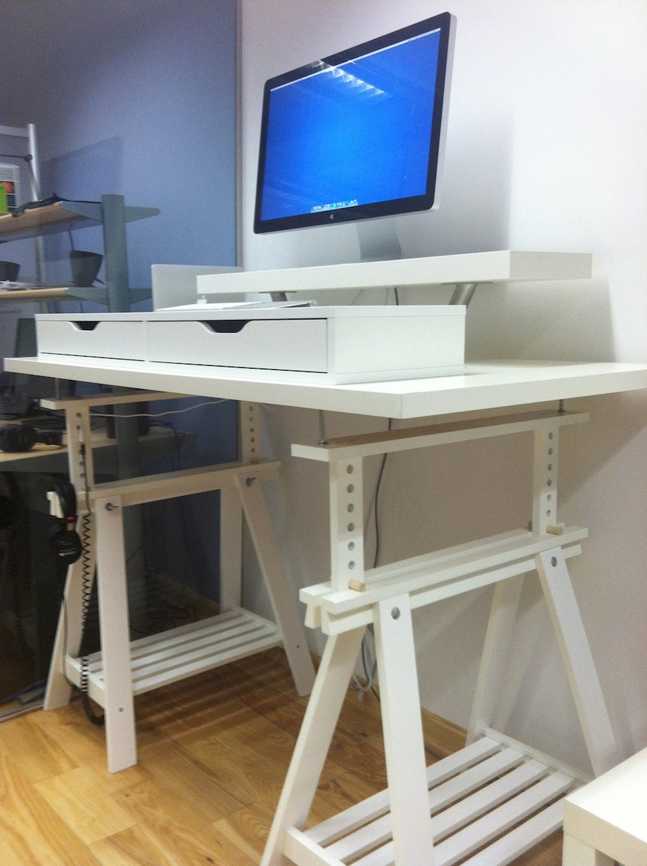 extra tall but adjustable standing desk