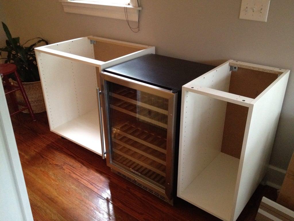 Integrated Wine Cabinet Numerar Akurum Diy Chic Wine Bar Ikea Hackers Ikea Hackers