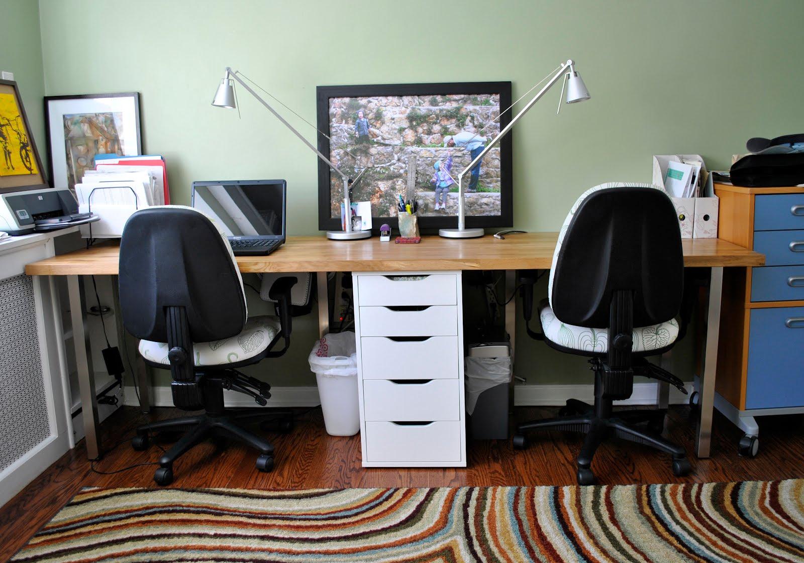 Butcher Block Perfect Double Desk