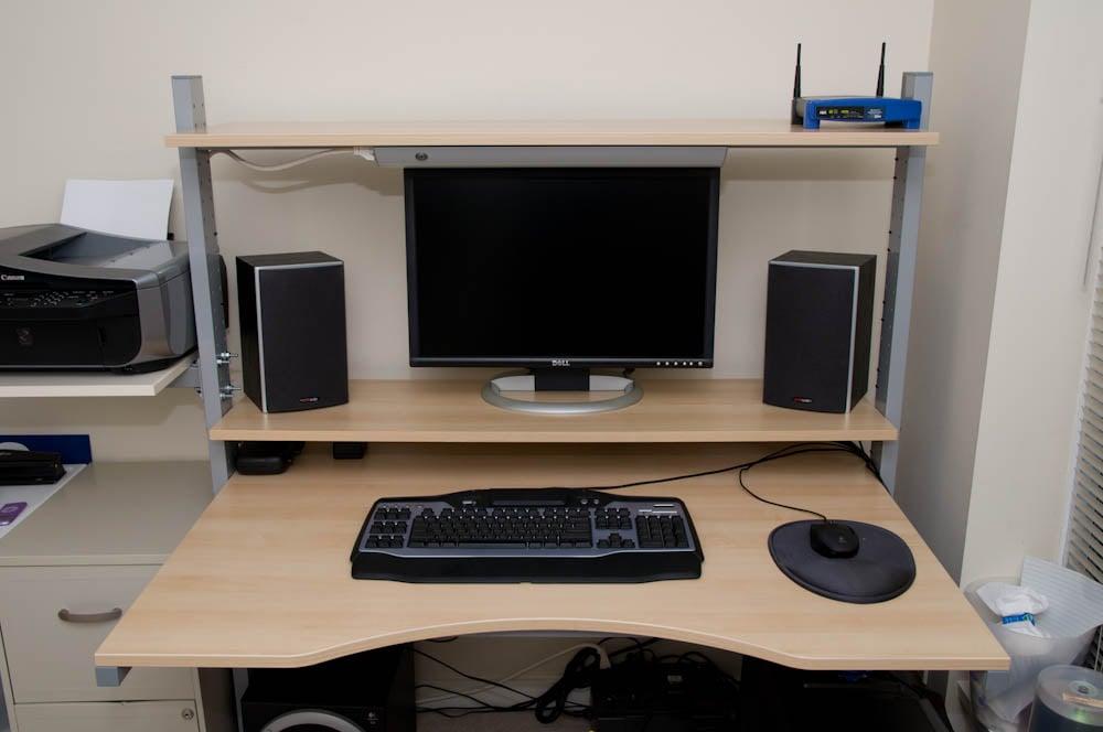 Split Level Jerker Desk IKEA Hackers IKEA Hackers