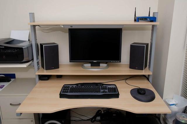 Split Level Jerker Desk