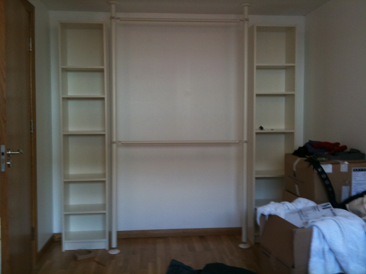 Billy Bookcase Closet Organizer Part - 20: Quick And Easy Wardrobe