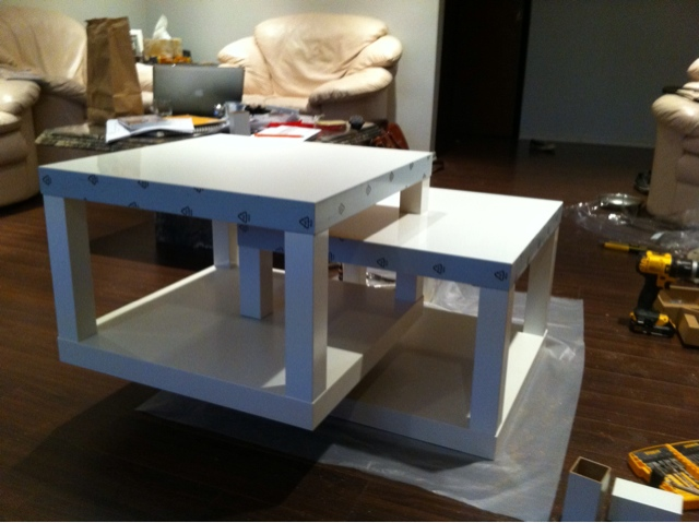 Modified lack coffee table ikea hackers ikea hackers - Ikea table basse lack ...