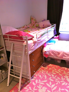 Bunk bed to loft bed