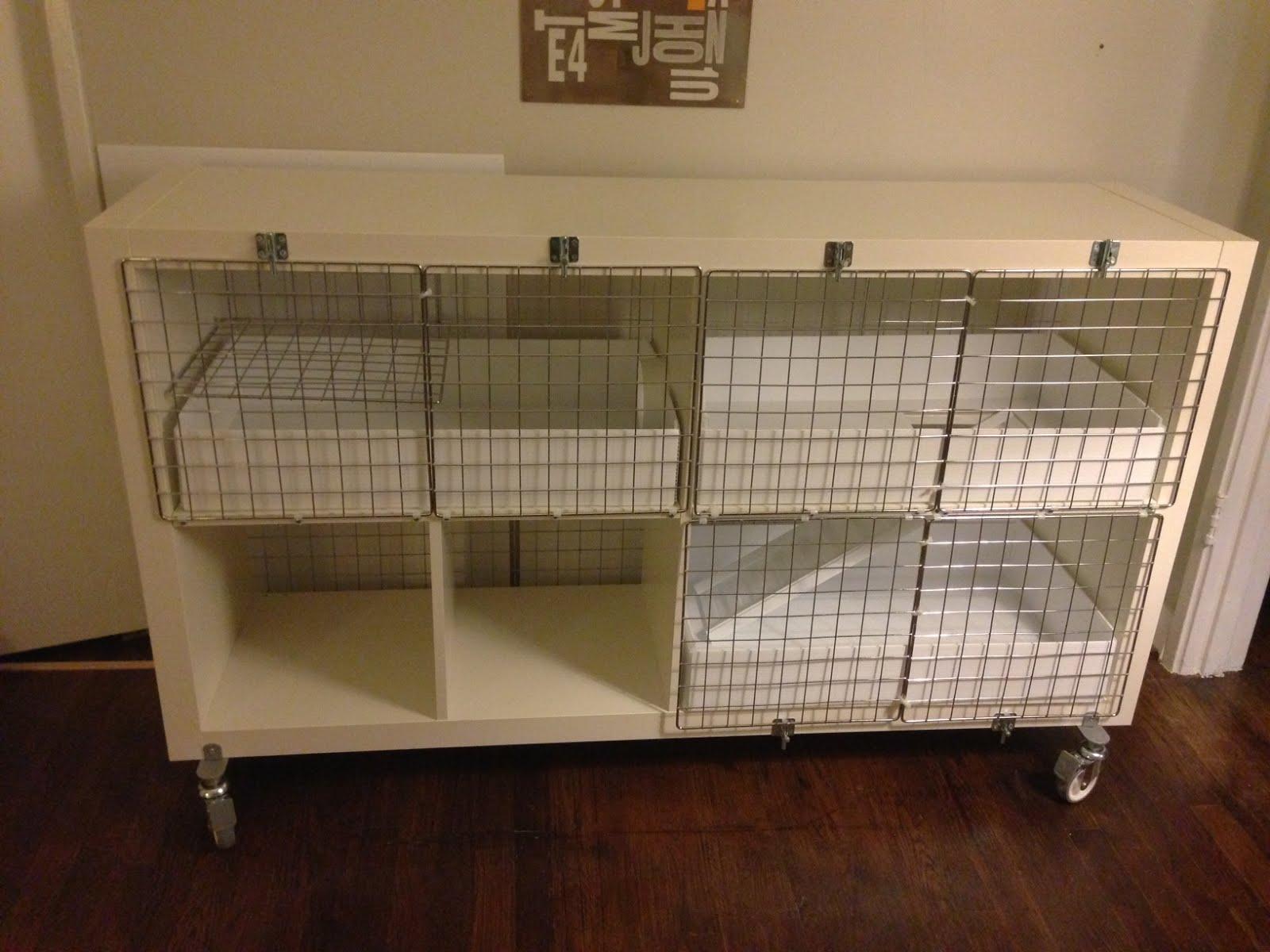 Expedit Turned Guinea Pig Condo IKEA Hackers