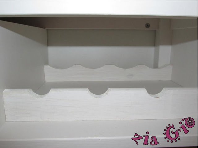 IKEA Hemnes buffet with bottle holders