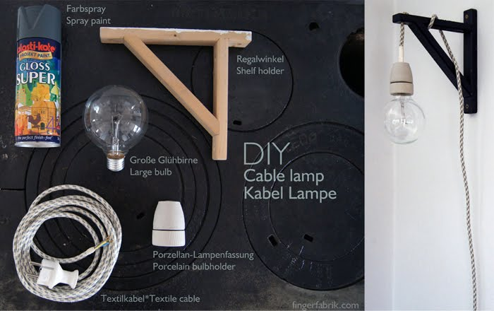 DIY Cable Lamp from a Valter Shelf Holder  IKEA Hackers  IKEA