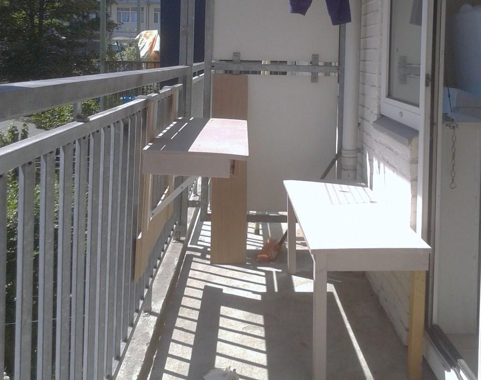 Folding Table Bench Ikea Hackers