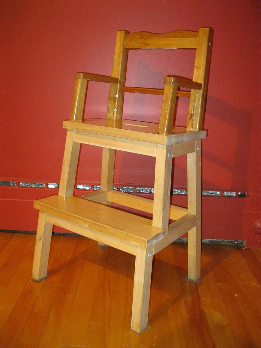Bekvam stool turned into chair for a child ikea hackers ikea hackers - Ikea chaise haute bar ...