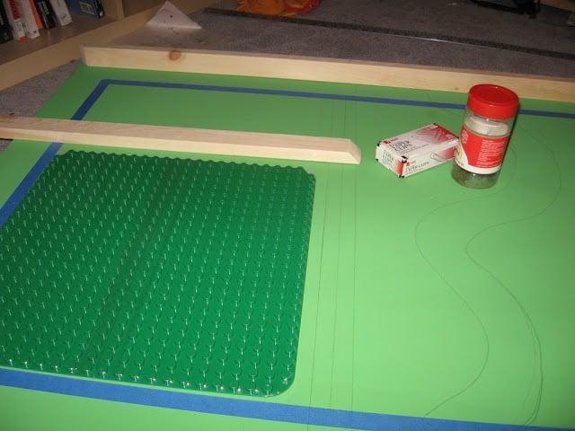 IKEA Lego and train table
