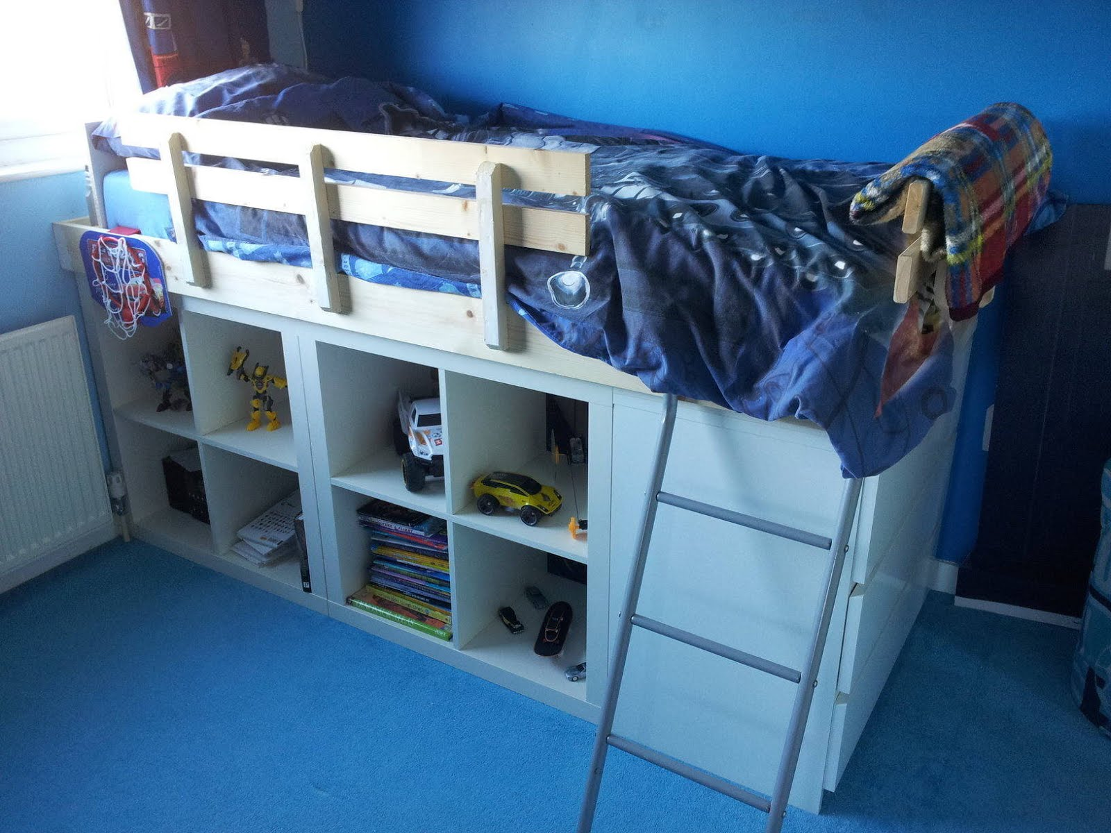 An Expedit Bed For Kids Ikea Hackers
