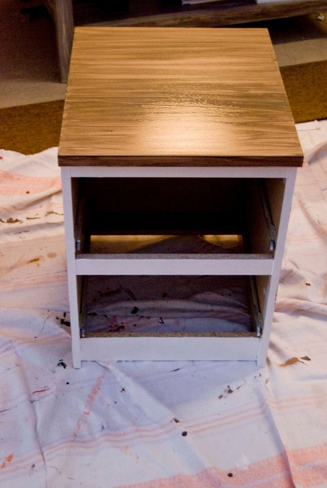 revamp of two malm nightstands