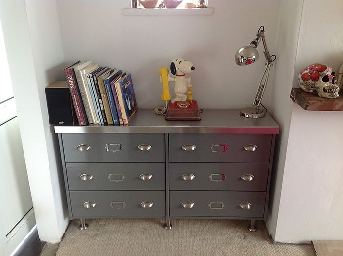 Credenza Industrial Ikea : Faux vintage steel sideboard from rast chest ikea hackers