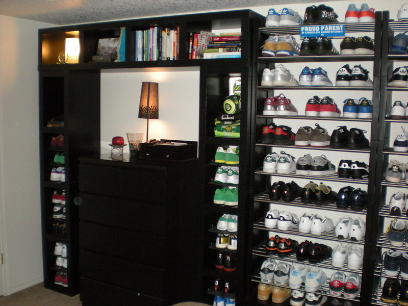 Lack Wall Of Shoe Shelves And Storage