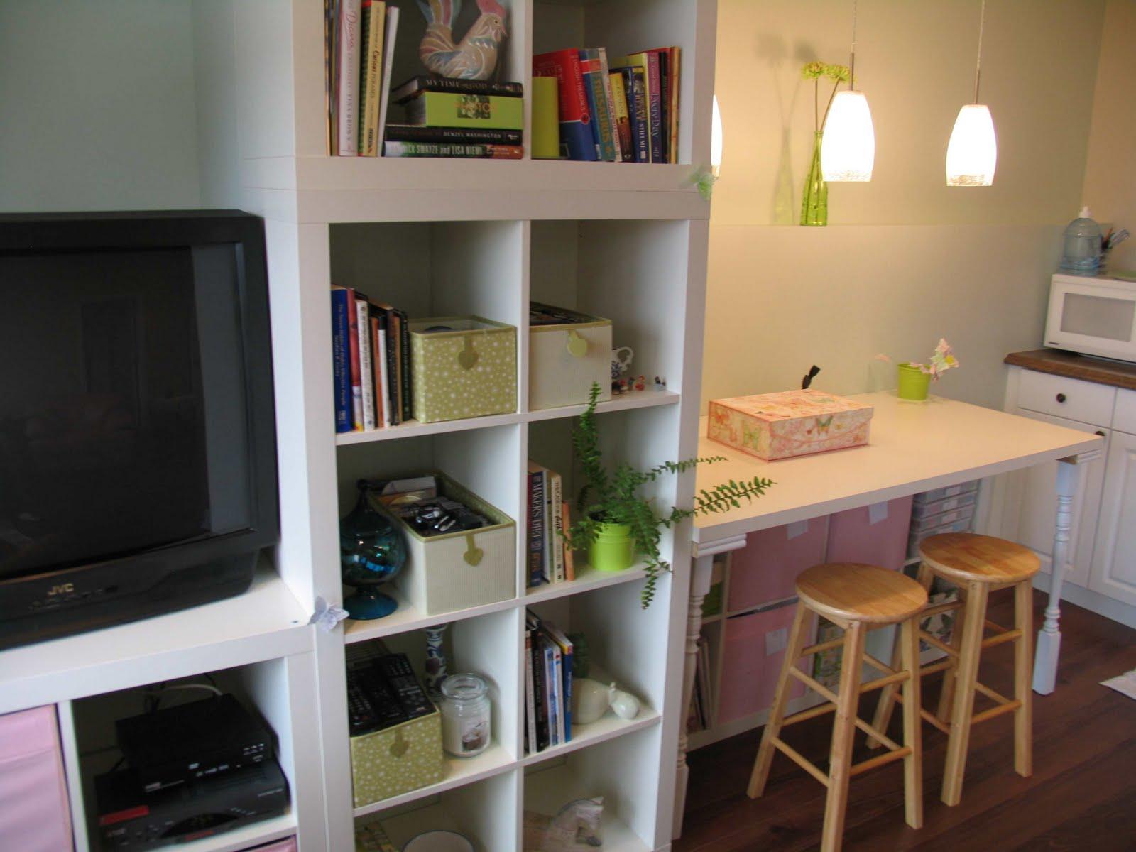 Wall Of EXPEDIT Workspace Plus Storage TV IKEA