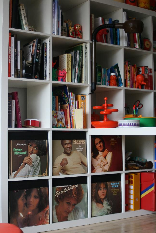 Expedit Ikea Record Storage ~ Super simple groovy Expedit hack  IKEA Hackers  IKEA Hackers