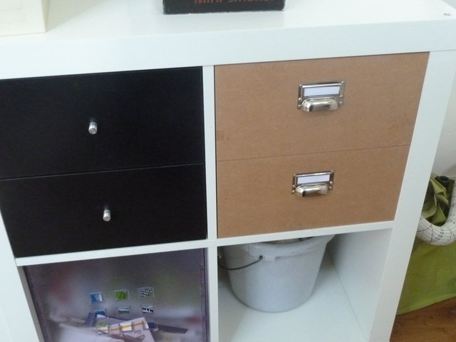 Here S What The Finished Drawers Look Like Right Next To Ikea Ones
