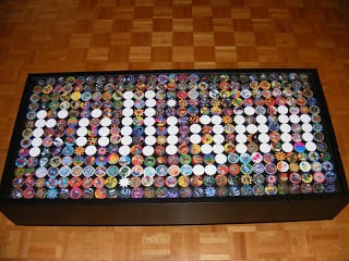 IKEA Ramvik table decorated with POGs