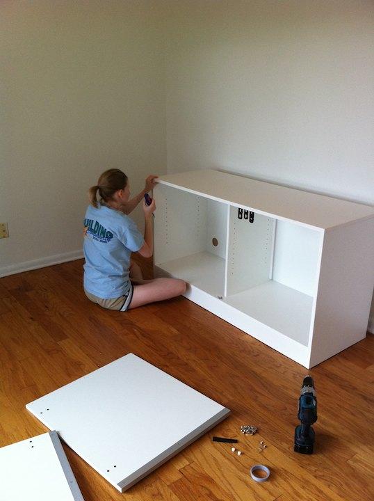 Ikea cabinets office