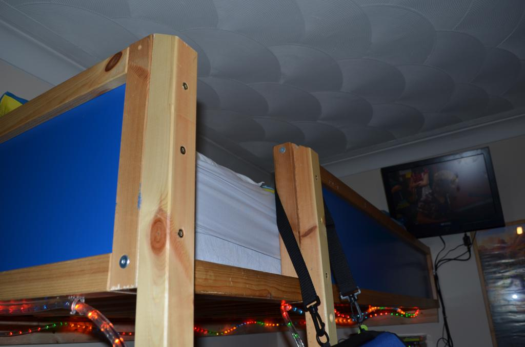 Beautiful Kura bed to loft bed hack