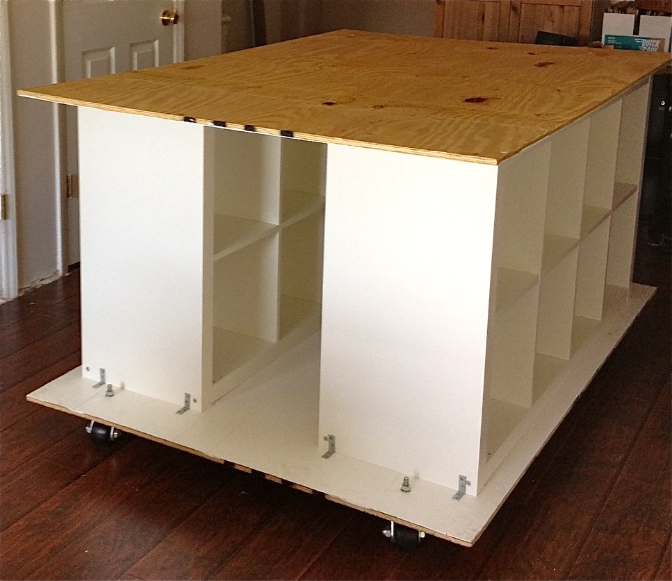 Quilters Table with storage IKEA Hackers IKEA Hackers