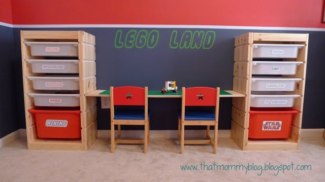 LEGO storage play table