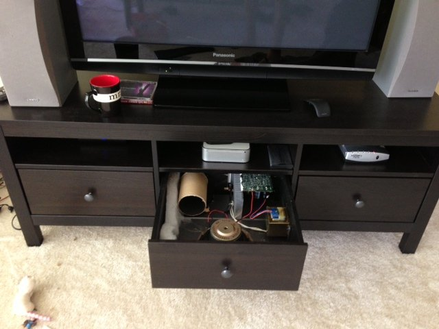 Hemnes Tv Unit Two Drawer : Subwoofer in a Drawer  IKEA Hackers  IKEA Hackers
