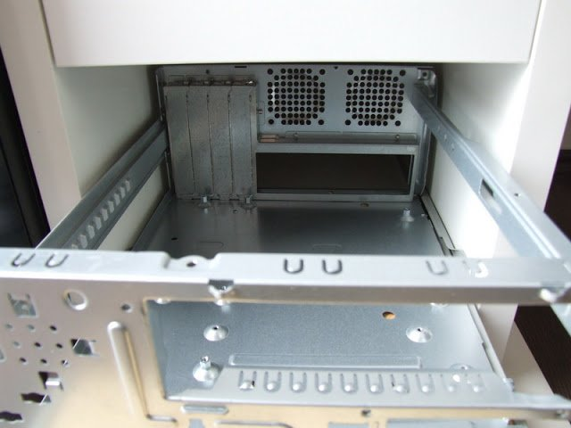 mATX computer in a MICKE drawer unit