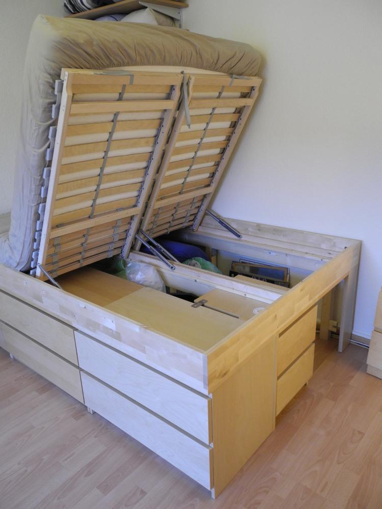 Ikea hack bed  Malmus Maximus: hacking MALMs and LERBÄCK into storage bed - IKEA ...