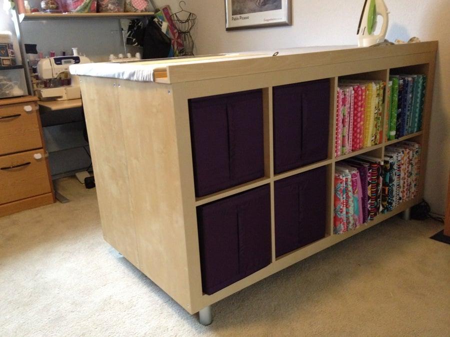 Rattan Sofa Garden Furniture, Expedit Sewing Crafting Cutting Table Ikea Hackers