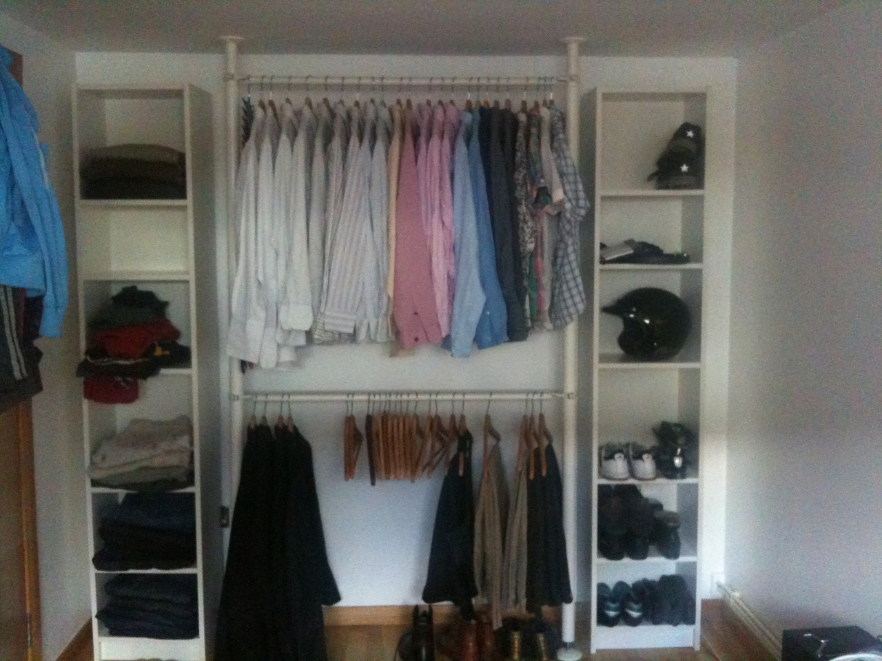 Billy Bookcase Closet Organizer Part - 28: Quick And Easy Wardrobe