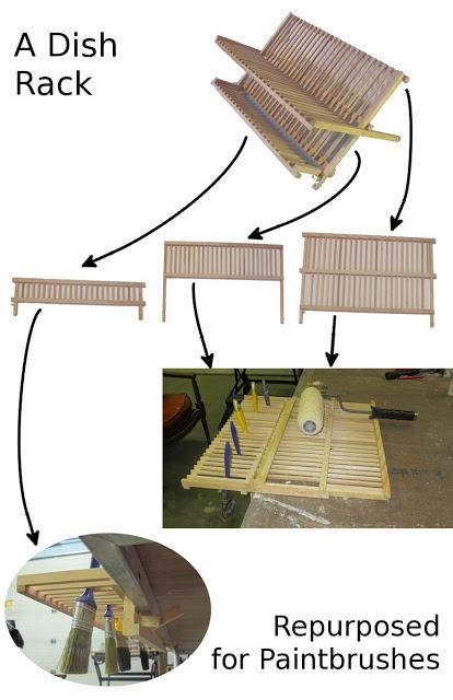 DIY paint brush drying rack