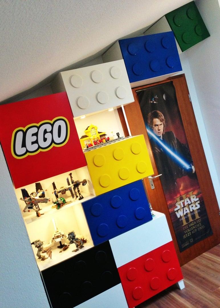 The IKEA BESTA LEGO shelves