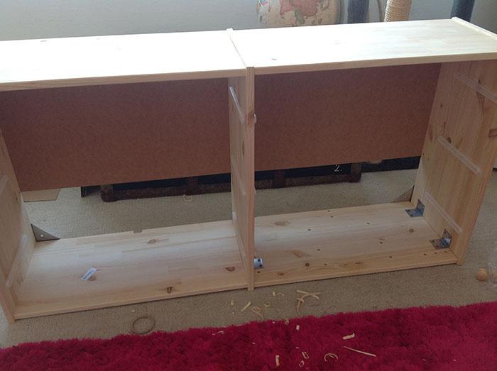 Faux vintage steel sideboard from Rast chest - IKEA Hackers - IKEA ...